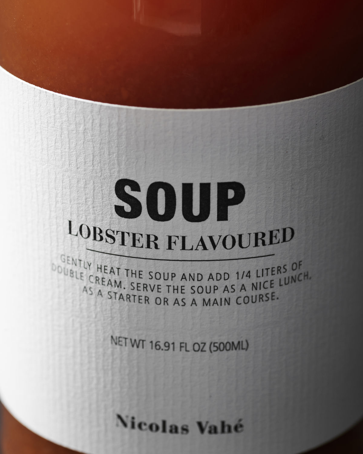 Lobster flavored soup, 500 ml.